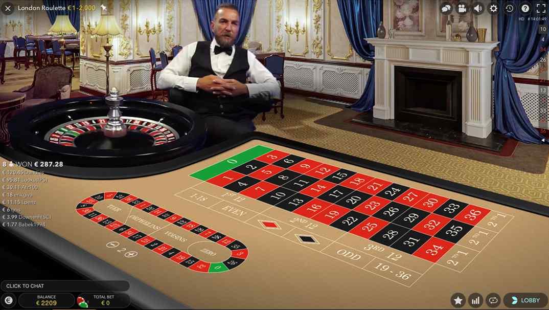 Bob Casino Live London roulette screenshot