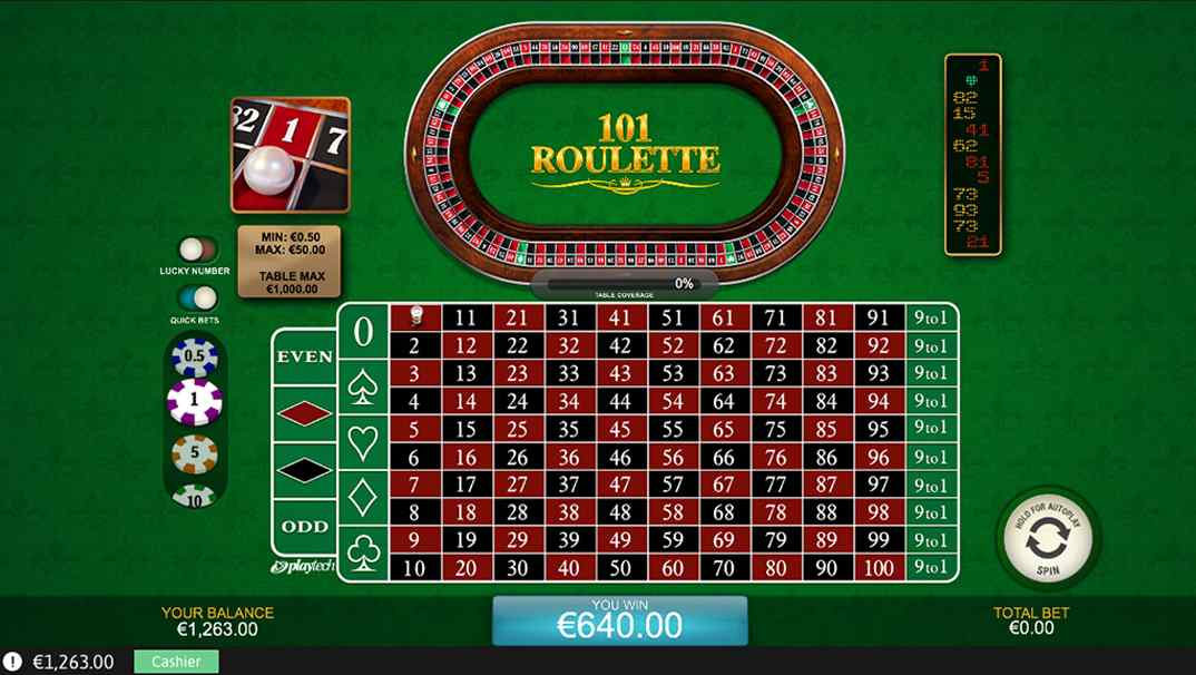 Casino Las Vegas 101 Roulette Online screenshot