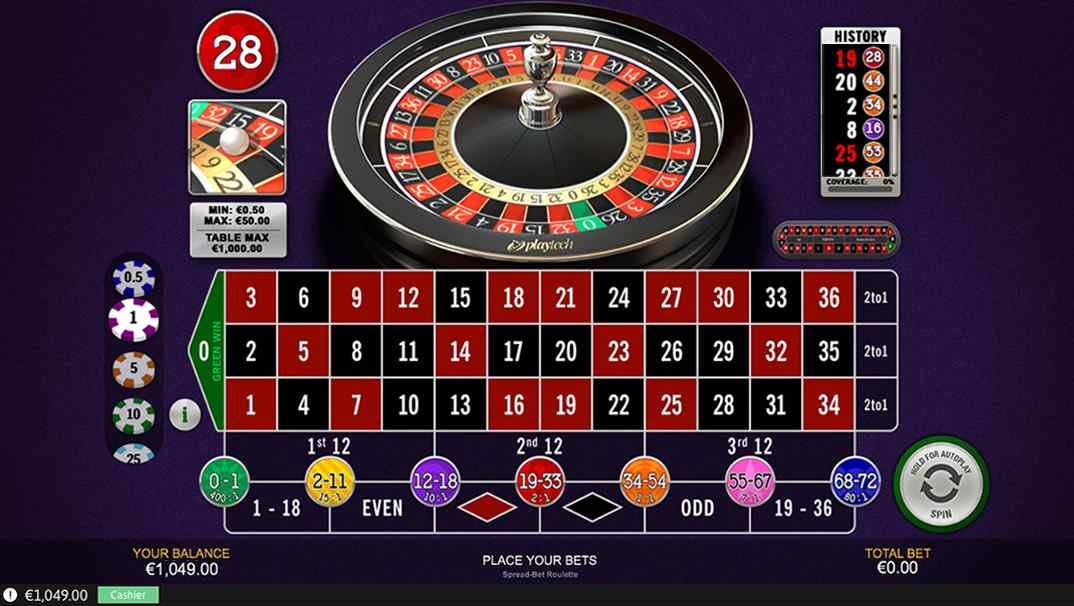 Casino Las Vegas Spread Bet online roulette screenshot