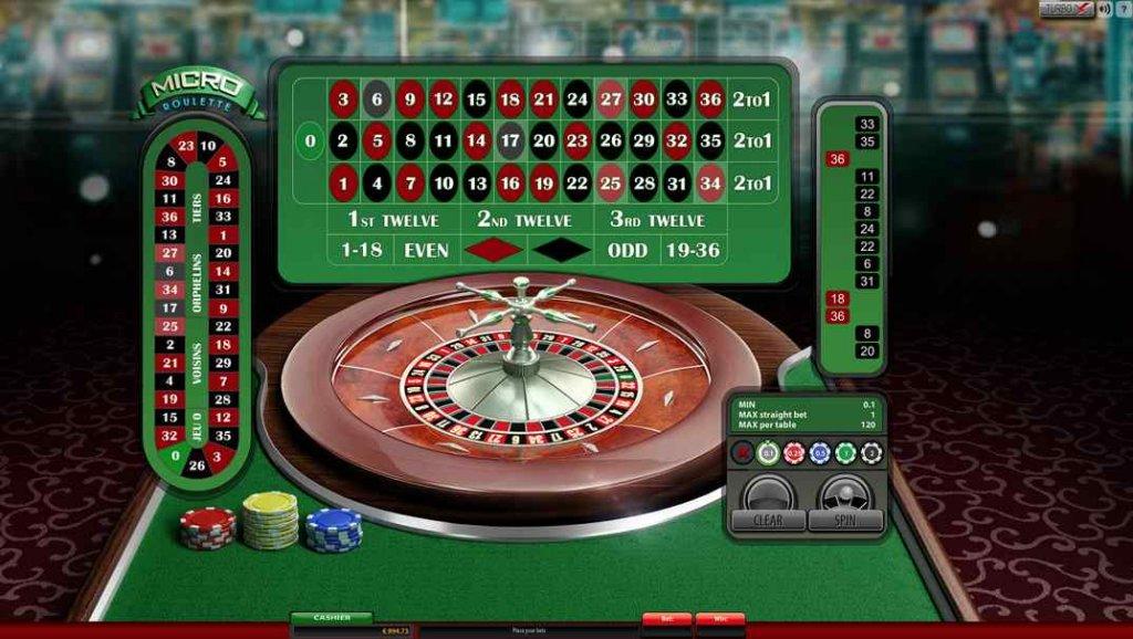 EnzoCasino Micro Roulette screesnhot
