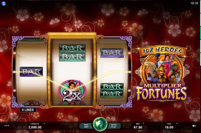 108 Heroes Multiplier Fortunes gokkast