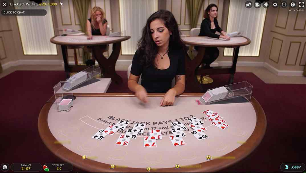 Betchan Live Casino - Blackjack White
