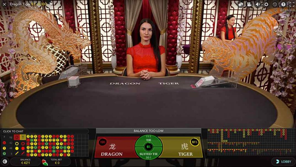 Betchan Dragon Tiger Live Casino