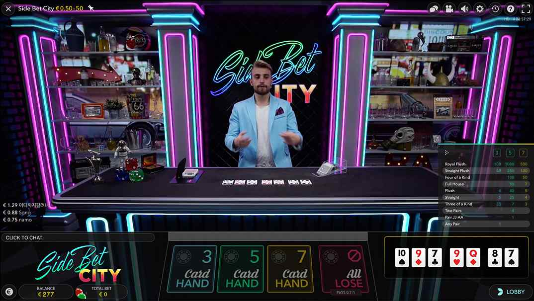 Bob Casino Side Bet City Live Casino