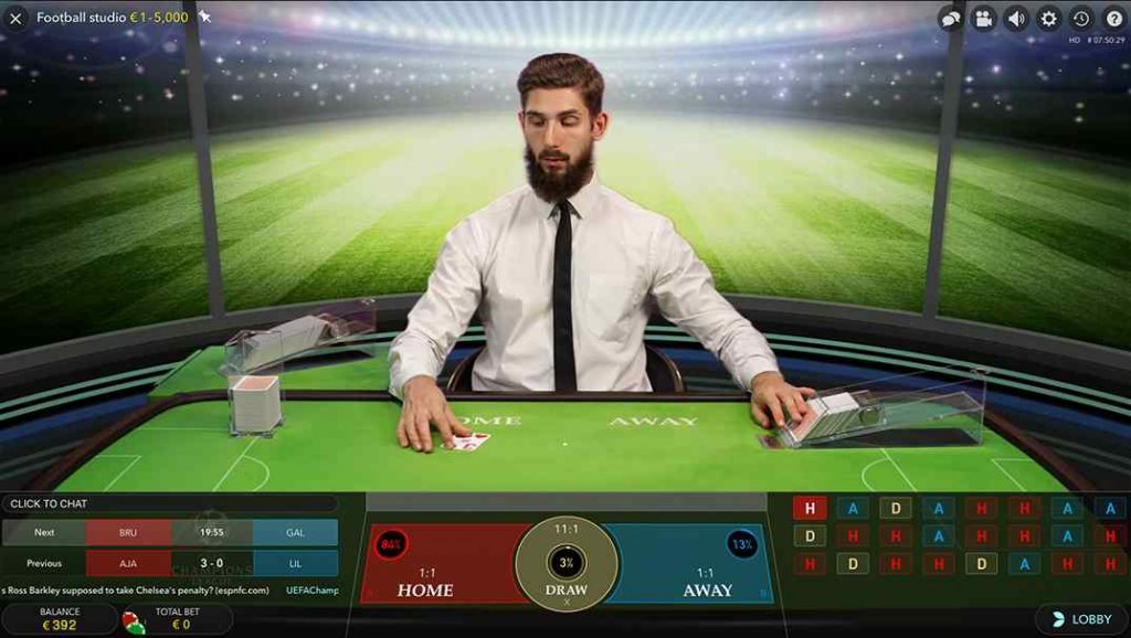Cbet Football Studio Live Casino
