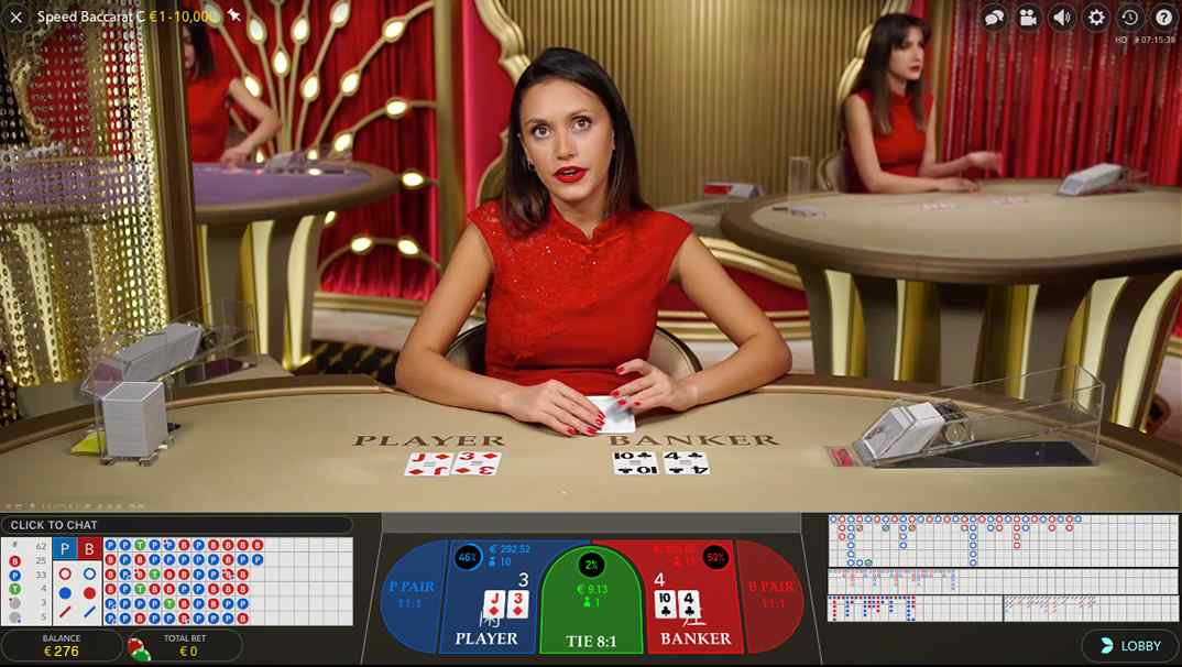 Enzo Casino Live Speed Baccarat
