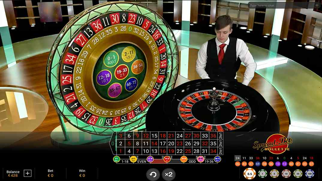 Spread Bet Roulette by Playtech