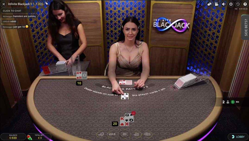 SlotsMagic Infinite Blackjack Live Casino