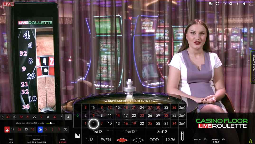 Spinia Casino Floor Live Roulette