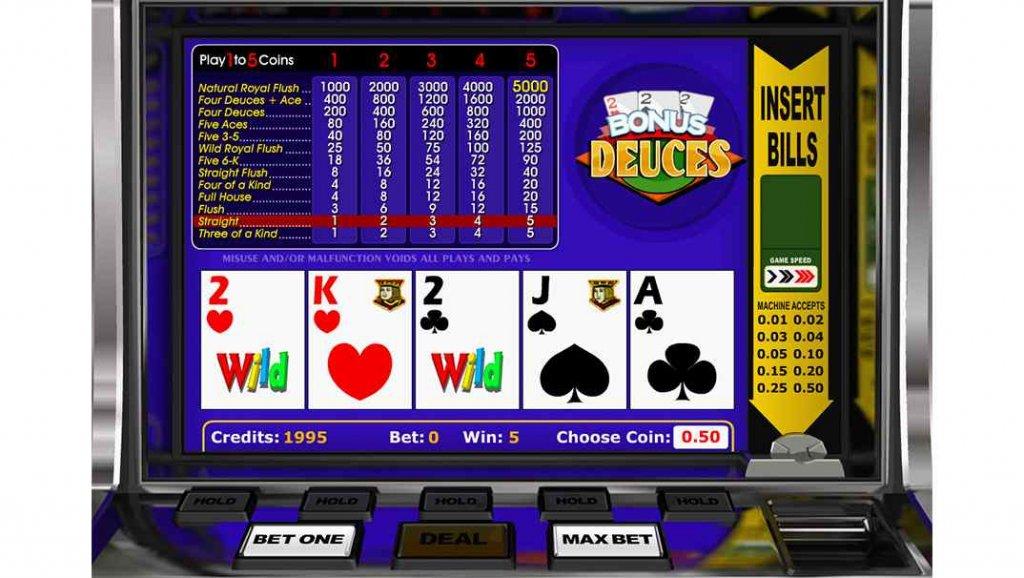 Betchan video poker - Bonus Deuces by Betsoft Gaming