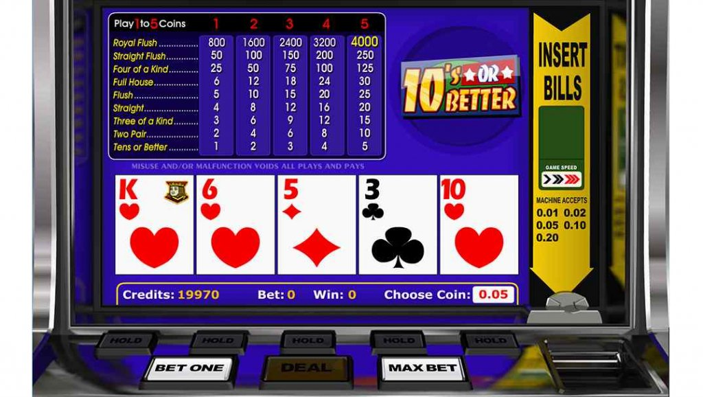 Spinia Video Poker - 10s or Better by Betsoft Gaming