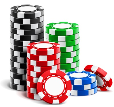 Blackjack casino chips stack