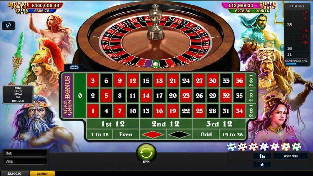 Age of the God roulette online bij Casino Las Vegas