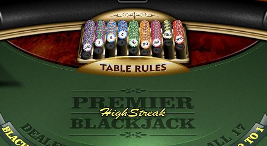 Premier Highstreak Blackjack tafel