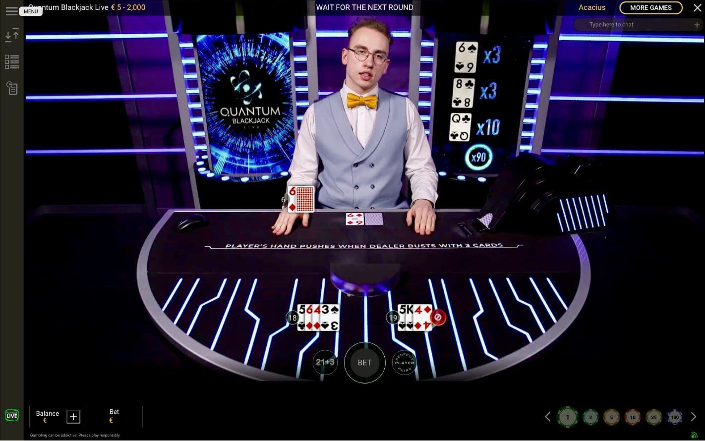 Live blackjack online - Quantom Blackjack 1422x890