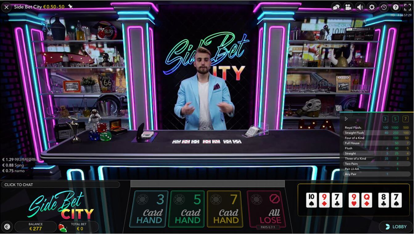Live Poker Side Bet City Evolution Gaming minified