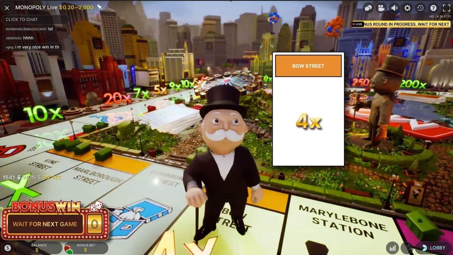 Monopoly Live bonusmultiplier