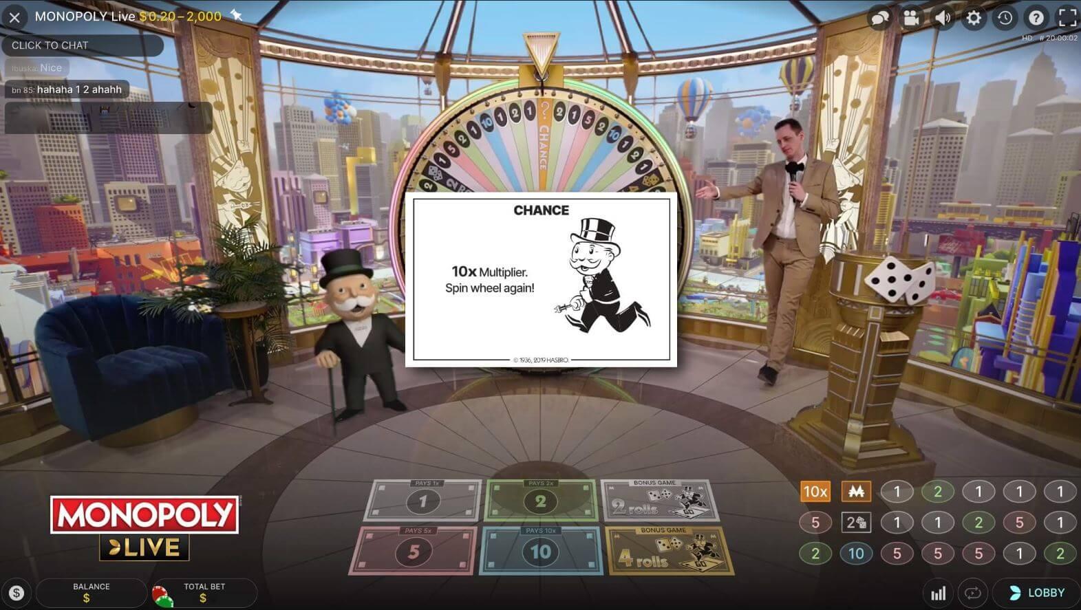 Monopoly Live chance kaartt minified