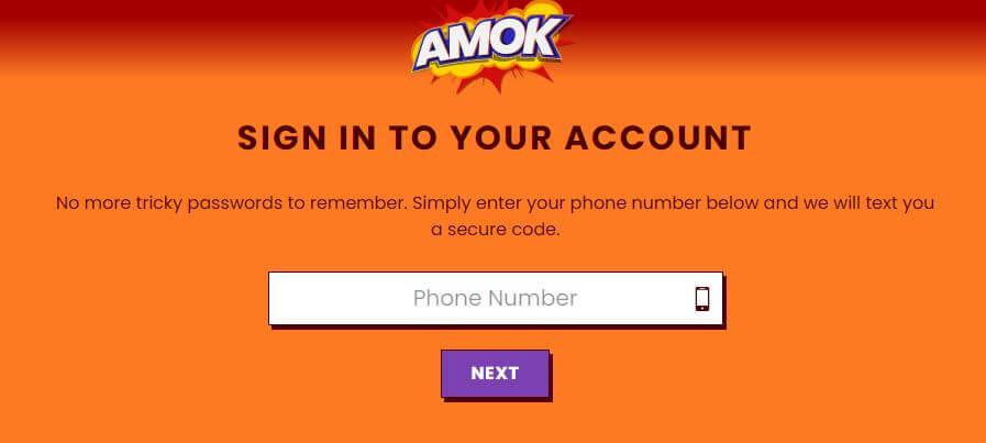 amok casino registratie