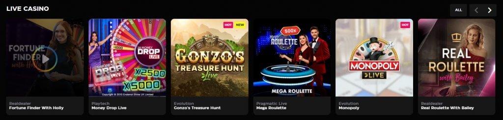 live casino casinobuck