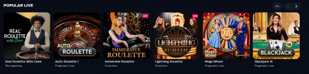 Gioo Casino Live Casino